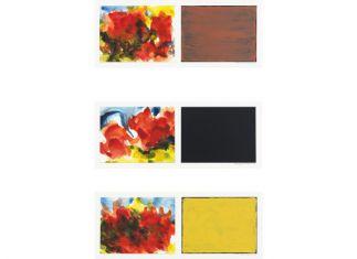 9 x 25 cm. aquarel en alcydlak op papier Altena Boswinkel Collectie