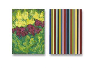 70 x 50 cm. 2x olieverf en acryllak op linnen op paneel particuliere collectie