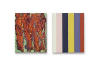 50 x 40 cm. 2x olieverf en acryllak op linnen op paneel collectie Jan Klink