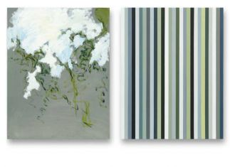 90 x 70 cm. 2x olieverf en alkydverf op linnen op paneel Altena Boswinkel Collectie